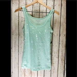 Sequin Tank Mint Green by Old Navy
